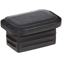 Kapsto 270 R 3020 3 Polyethylene Rectangular Plug, Black, 30x20 mm (Pack of 100)
