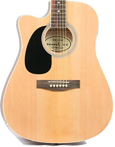 Left Handed Full Size Thinline Acoustic Electric Guitar with Free Gig Bag Case & Picks Natural Finish (Full Size Thinline Acoustic compare prices)