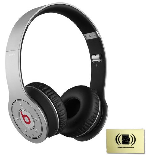 Beats By Dr. Dre Wireless On-Ear Headphones (Silver) Bundle With Custom Design Zorro Sounds Cleaning Cloth