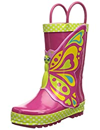 Western Chief Girls' Butterfly Star Rain Boot