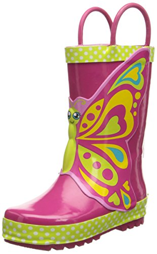 Western Chief Butterfly Star Rain Boot (Infant/Toddler/Little Kid),Pink,7 M Us Toddler front-877831