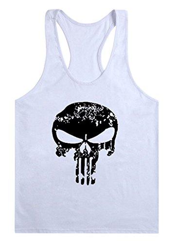 Gillbro T-shirt Mens GYM muscolare allenamento bodybuilding Canotta modello della lettera, A, L