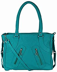Mukul Collection Women's Shoulder Handbags Blue (mc-hb-004)