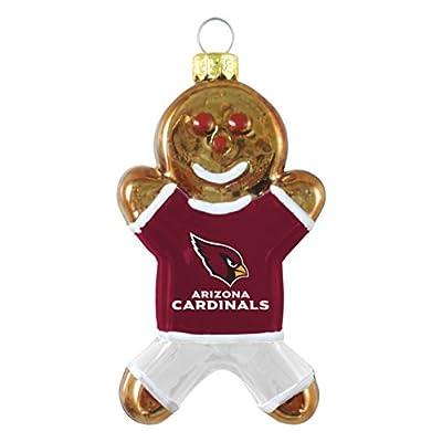NFL Arizona Cardinals Blown Glass Gingerbread Man Ornament
