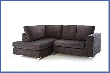 New England Corner Sofa - Grey Left Hand Side Orientation