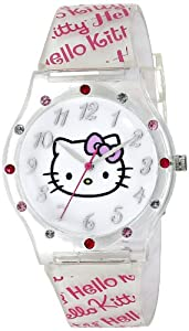 White Rubber Hello Kitty Watch by Sanrio