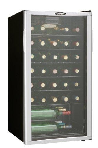 Danby DWC350BLPA 35 Bottle Wine Cooler Reversible Door Tempered Glass Door Wo...