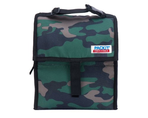 PackIt ® Freezable Reusable Lunch Bag with Adjustable Strap (Camo) - 1