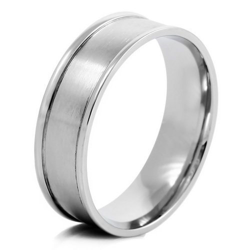 MENS Silver Stainless Steel Rings Wedding Band Size 11