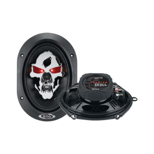 "2) New Boss Sk573 5X7"" 350W Phantom Skull 3 Way Car Audio Coaxial Speakers Pair"