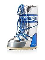 Moon Boot Botas Satellite (Plata / Azul Eléctrico)