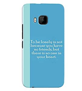 Fuson Premium Being Lonely Printed Hard Plastic Back Case Cover for HTC One M9