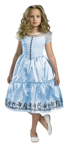 Big Girls' Alice In Wonderland Costume X-Small
