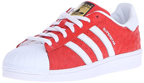 Adidas Originals Men's Superstar Animal Shoe,Red/White/Gold,9 M US