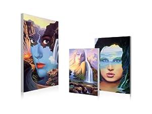 Zi Art Decor Abstract Zen Wall Art,Set of 3