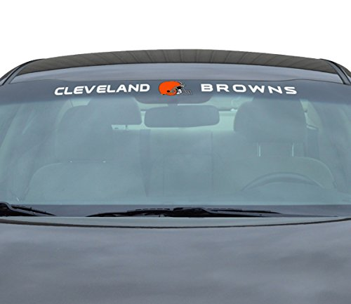 NFL Cleveland Browns Windshield Decal, Orange, Standard (Cleveland Browns Auto Decal compare prices)