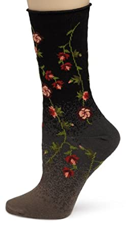 Ozone Women's Tibetan Flowers,Black, One Size