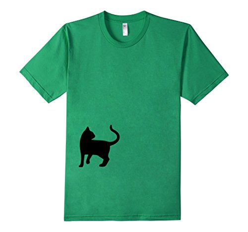 Mens-EmmaSaying-Dont-Look-Back-In-Anger-Cat-Silhouette-T-Shirt-Kelly-Green