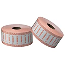 PM Company SecurIT $10 Quarter Automatic Coin Wrap Rolls, White/Orange, 1900 Wrappers per Roll, 8 Rolls per Carton (51925)