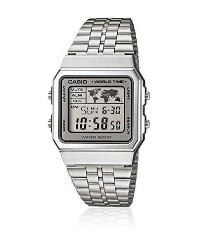 CASIO Reloj de cuarzo Vintage Plateado 34 mm