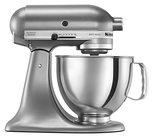 KitchenAid KSM150PSCU Artisan Series 5-Qt. Stand Mixer with Pouring Shield - Contour Silver (Kitchen Aid Stand Artisan Mixer compare prices)