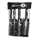 Head Jog 4 Professional Round Brush Set - Extra Small, Small, Medium & Large