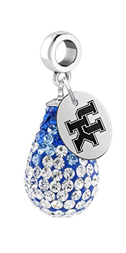 University of Kentucky Wildcats Crystal Dangle Charm - Fits All Bracelets