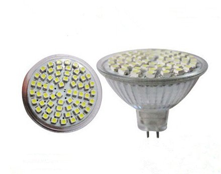 Hetin® 6 Pcs Per Lot Smd 3528 60 Led 4W Mr16 12V White 6000-7000K High Quality Led Spotlight Lamp Corn Light Downlight Bulb Led Lighting