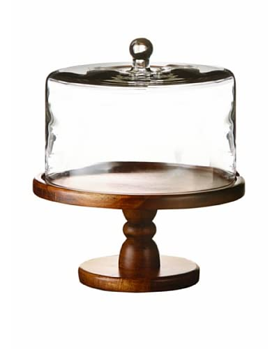 Style Setter Madera Pedestal Plate with a Dome