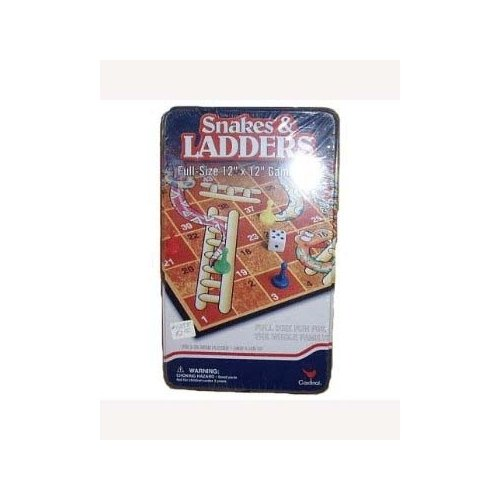 Snakes and Ladders Tin Game Set