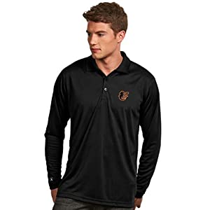 Baltimore Orioles Long Sleeve Polo Shirt (Team Color) by Antigua