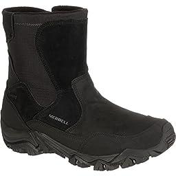Merrell Men\'s Polarand Rove Zip Waterproof Boot, Black, 11 M US