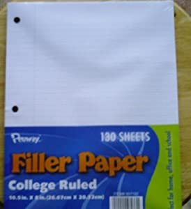 penway filler paper college ruled College ruled paper college ruled paper is available as loose leaf filler paper and in spiral notebooks choose from penway, mead or ultimate for the lined paper.