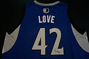 Kevin Love Signed Autograph Minnesota Timberwolves Jersey James Spence Authentication... by Sports Memorabilia
