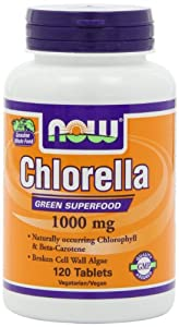 NOW Foods Chlorella 1000mg, 120 Tablets