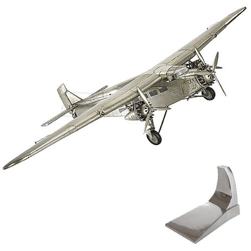 ProPassione Airplane Model Ford Trimotor, detailed design, with stand, l 67 x w 102 x h 20 cm