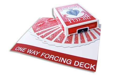 Magic Makers Red Bicycle One Way Forcing Deck - Three of Spades - 1