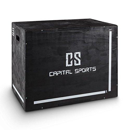 """Capital Sports Shineater Plio Box Jump Box Altezze 20"""" 24"""" 30"""" Legno Nero"""
