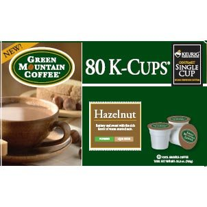 Green Mountain Coffee Roasters Hazelnut Blend Keurig Brewing Systems , 160 K-Cups front-516630