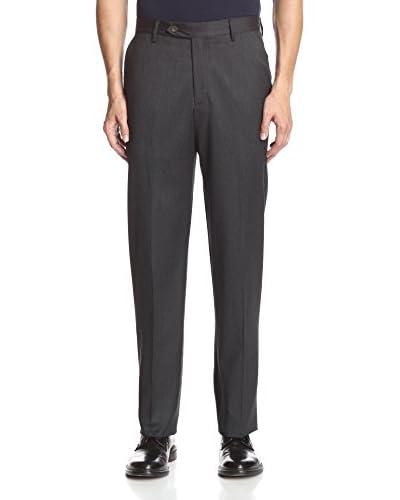 Berle Men's Solid Wool Flat Front Pant
