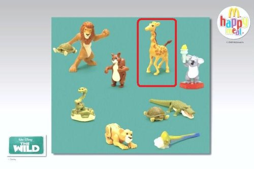 McDonalds Happy Meal Disney's The Wild Bridget the Giraffe Toy Figure #3 2006 - 1