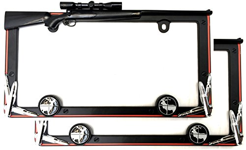 Cruiser Accessories 19656 Matte Black/Orange Hunting License Plate Frame with Fastener Caps (License Plate Frame Gun Metal compare prices)