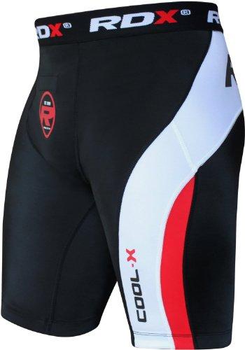RDX Compressione Boxe Thai Pantaloncini Sudore MMA Termici Compression Shorts Boxer Uomo Base Layer