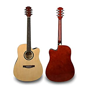 Bailando 41 Inch Full Size Dreadnought Cutaway Acoustic Guitar, Natural by Bailando