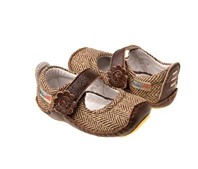 Mary Jane Baby Shoes - Tweed (3-6 months)