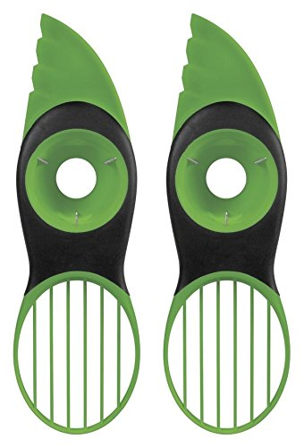 2 Pcs Oxo Good Grips 3-In-1 Avocado Slicer, Green