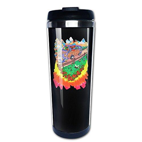 Hunson - Portable Workingman's Dead Stainless Steel Coffee Cup Mug, 14-Ounce