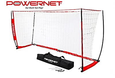 PowerNet Soccer Goal 12ft x 6ft Portable Bow Style Net