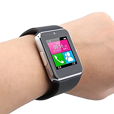 OPTA SW-008(Silver/Black) Bluetooth Smart Watch Phone With Camera and Sim Card Support With Apps like Facebook...