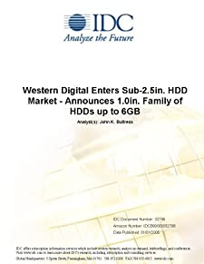 Western Digital Enters Sub-2.5in. HDD Market - Announces 1.0in. Family of HDDs up to 6GB IDC